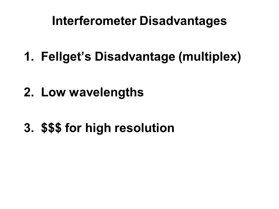 Interferometer Disadvantages