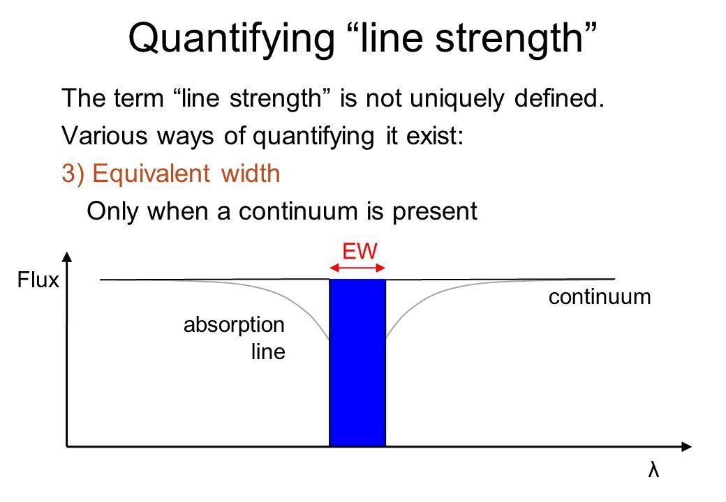 Quantifying line strength