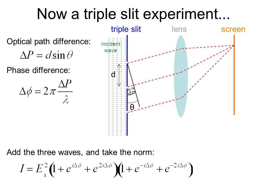 Now a triple slit experiment...