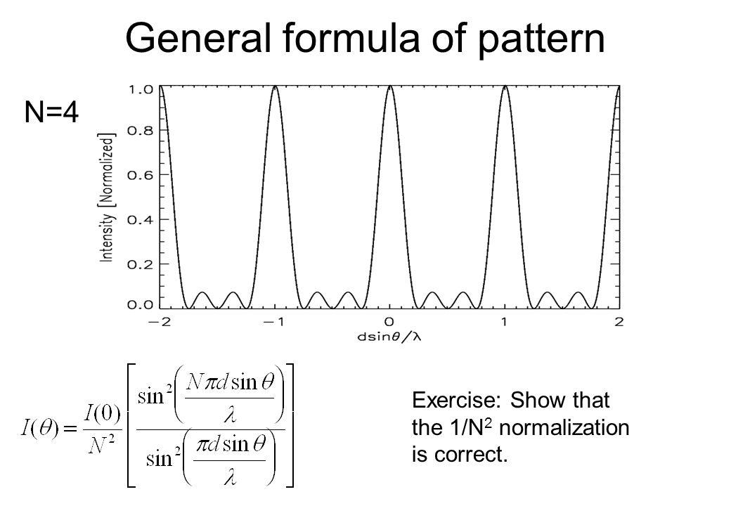 General formula of pattern
