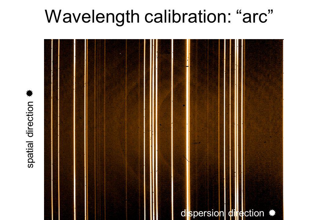 Wavelength calibration: arc