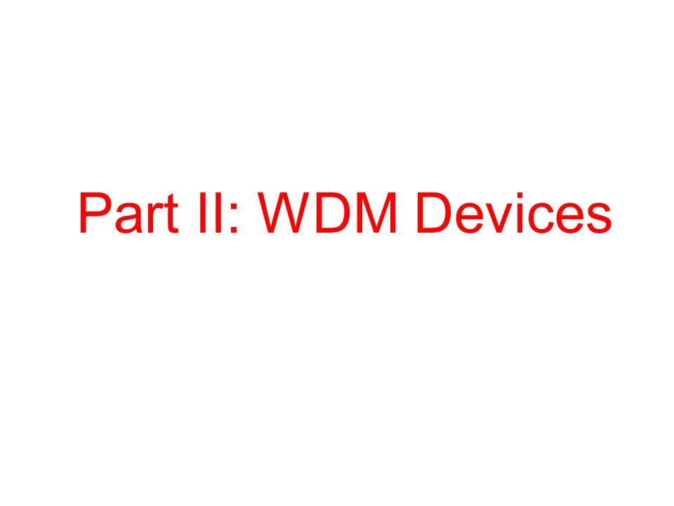 Part II: WDM Devices