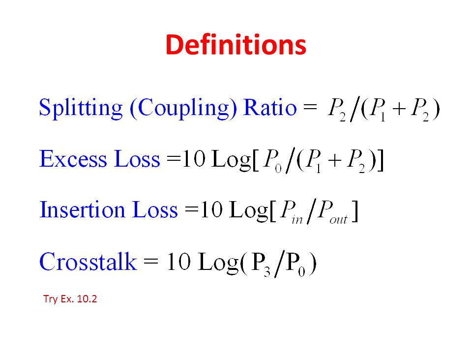 Definitions Try Ex. 10.2