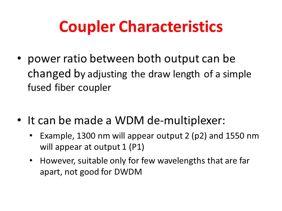 Coupler Characteristics