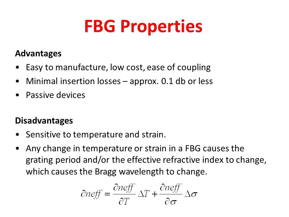 FBG Properties Advantages