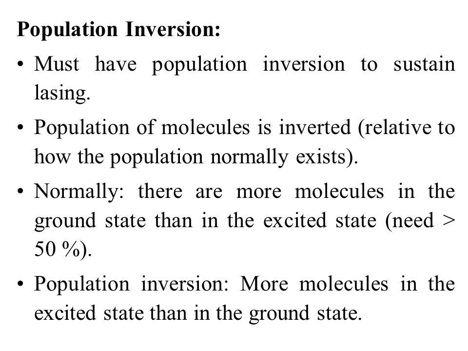 Population Inversion: