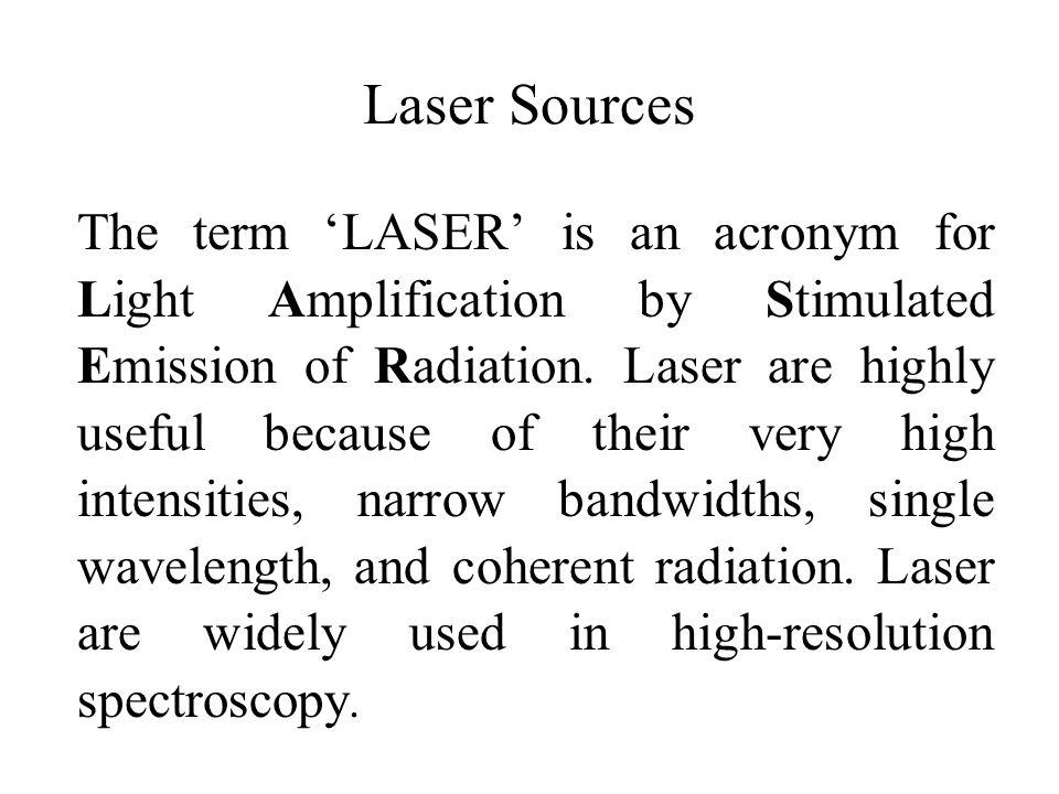 Laser Sources