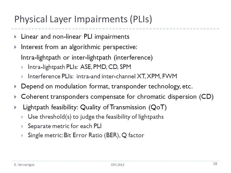 Physical Layer Impairments (PLIs)