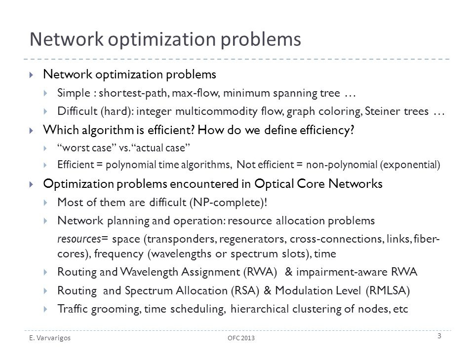 Network optimization problems