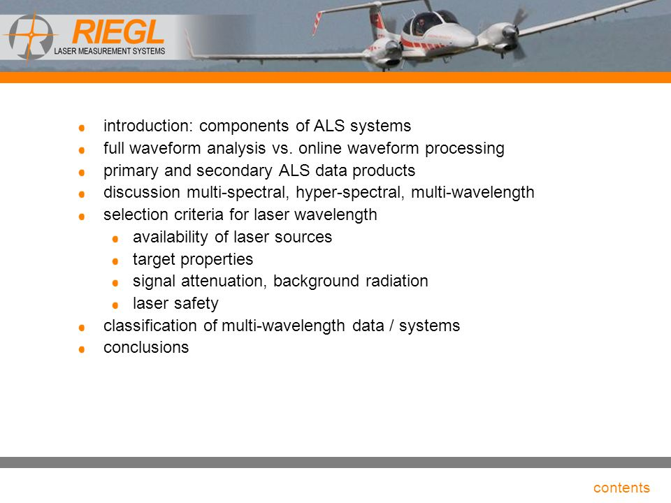 introduction: components of ALS systems
