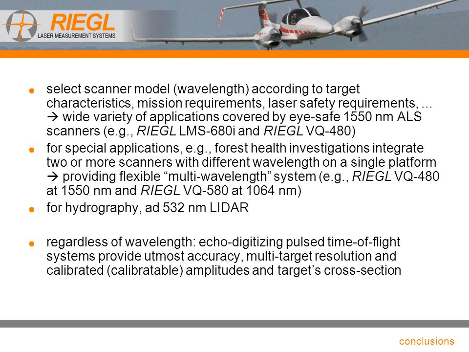 for hydrography, ad 532 nm LIDAR