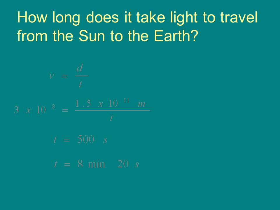 How long does it take light to travel from the Sun to the Earth