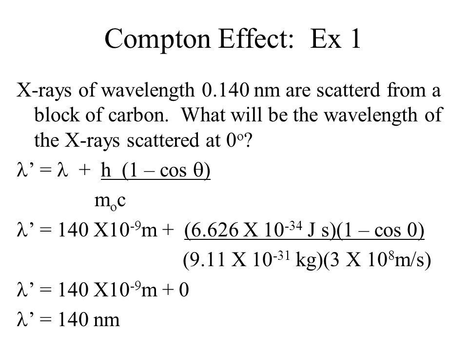Compton Effect: Ex 1