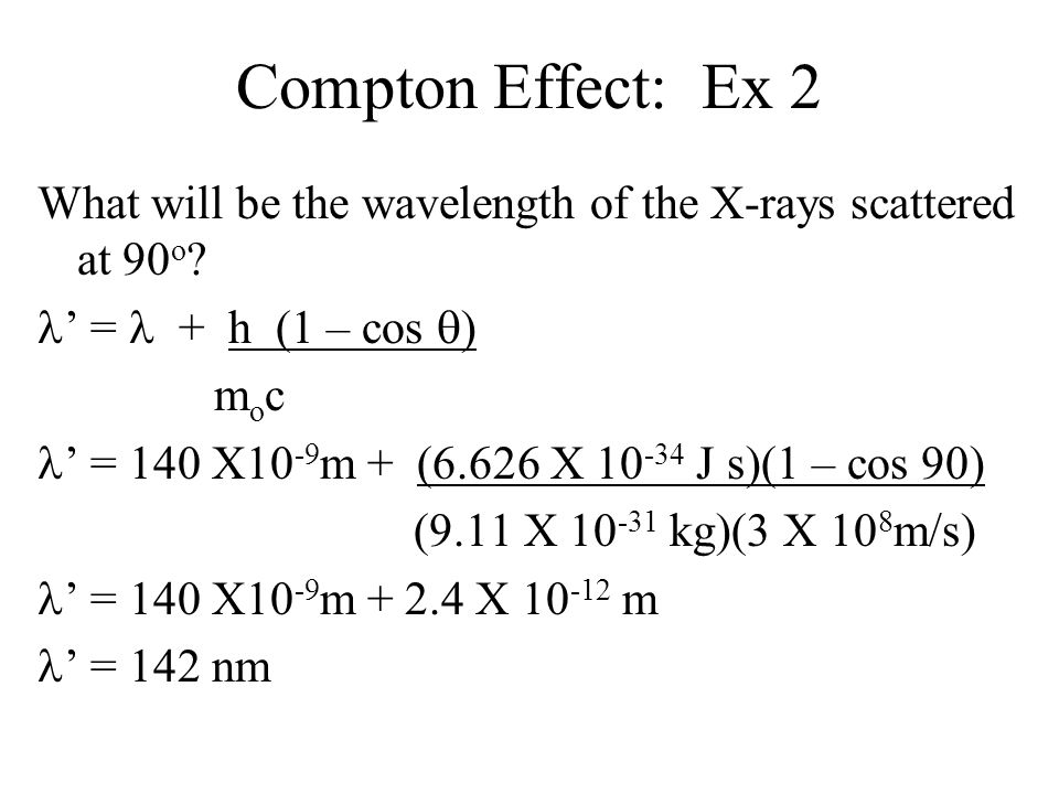 Compton Effect: Ex 2