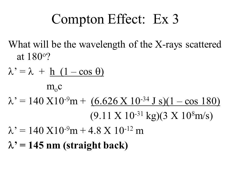 Compton Effect: Ex 3