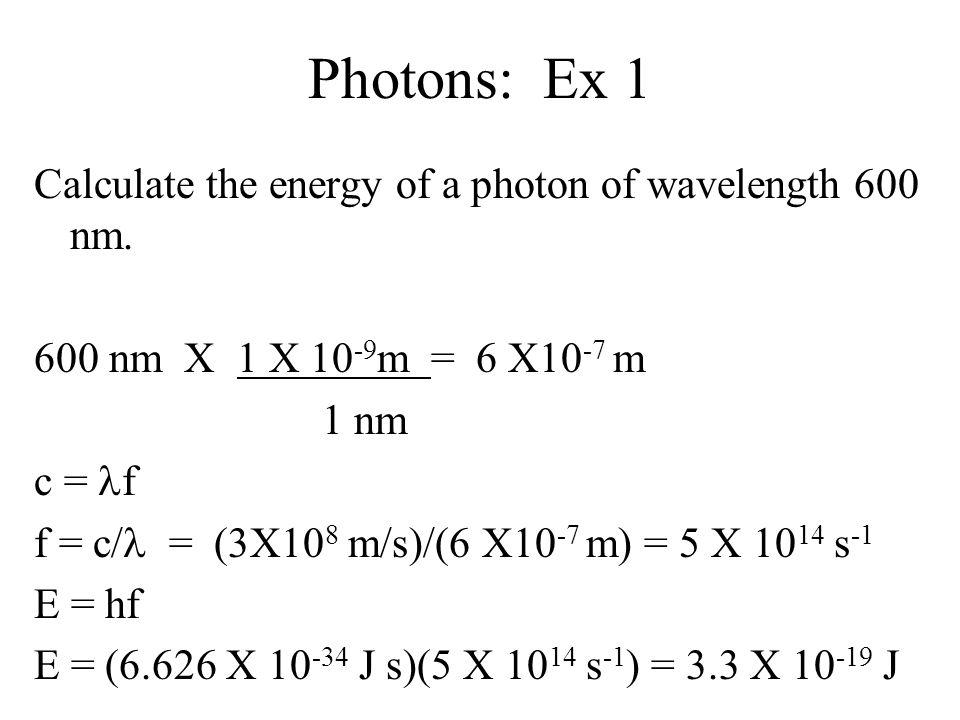 Photons: Ex 1