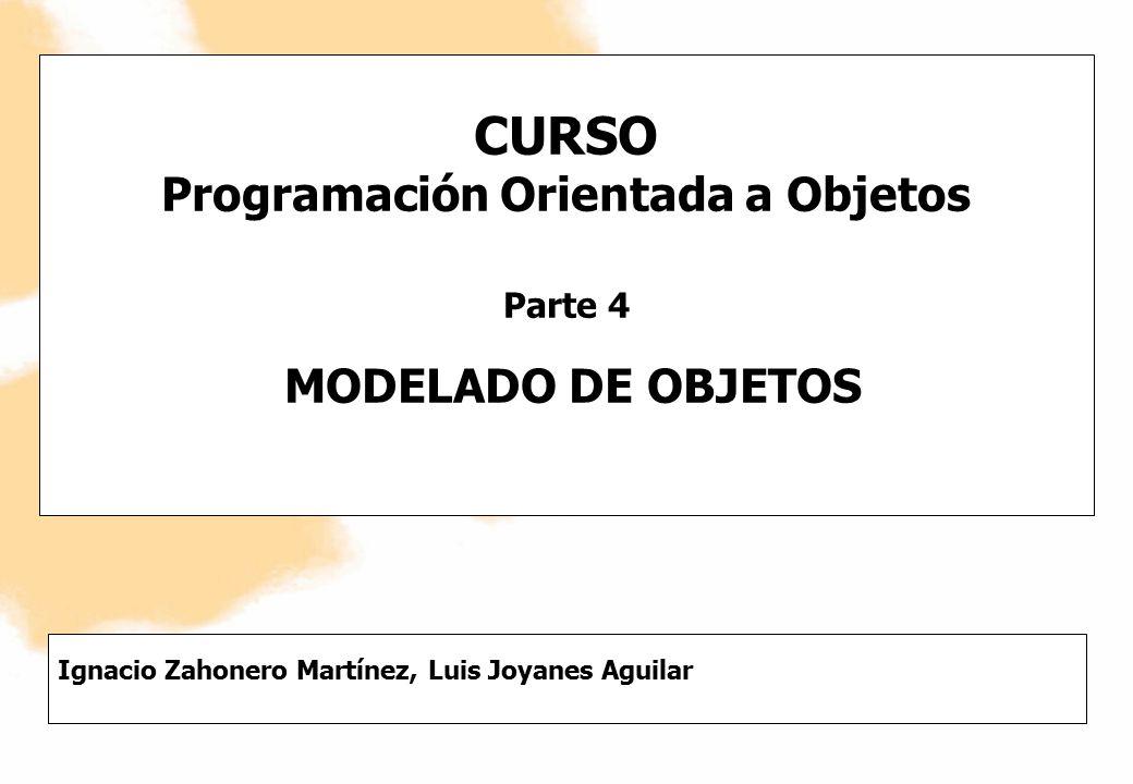CURSO Programación Orientada a Objetos Parte 4 MODELADO DE OBJETOS