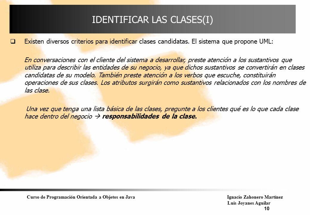 IDENTIFICAR LAS CLASES(I)