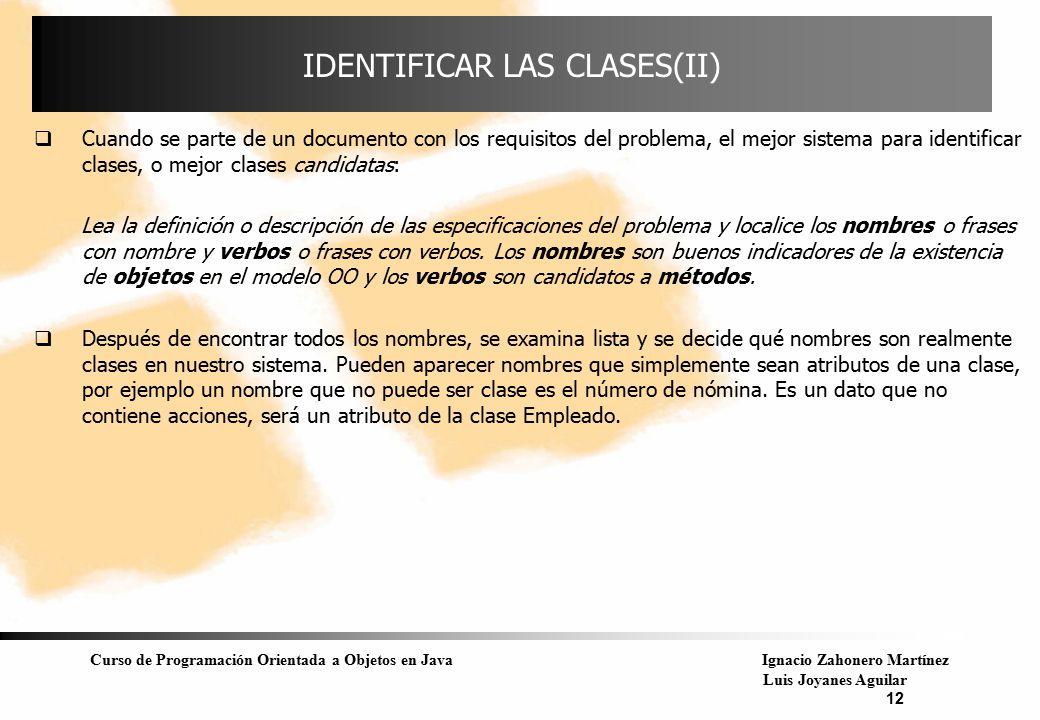 IDENTIFICAR LAS CLASES(II)