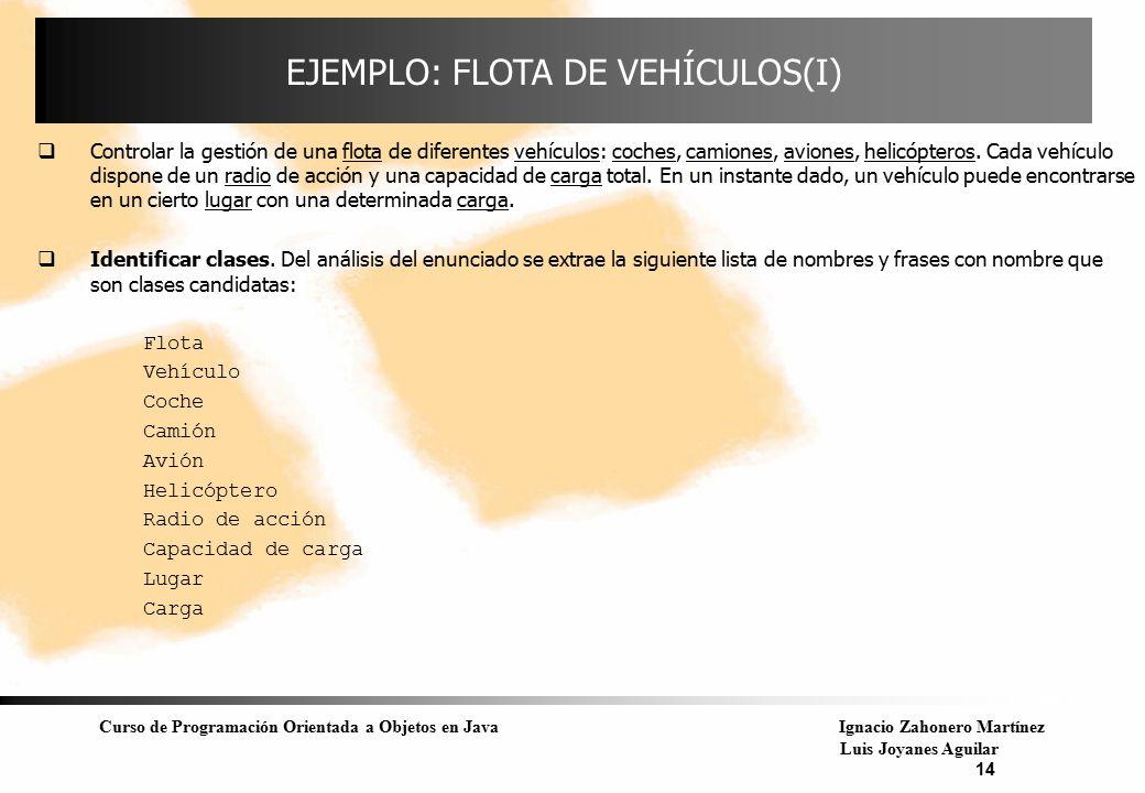 EJEMPLO: FLOTA DE VEHÍCULOS(I)