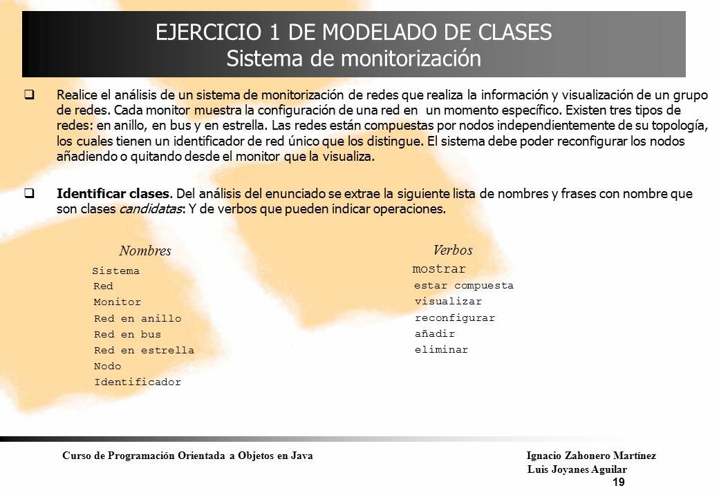 EJERCICIO 1 DE MODELADO DE CLASES Sistema de monitorización