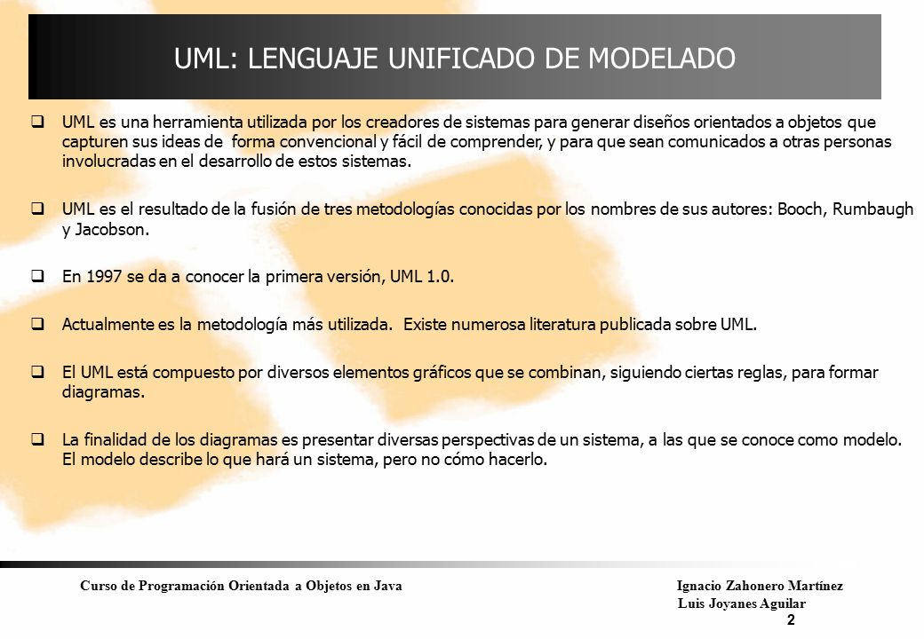 UML: LENGUAJE UNIFICADO DE MODELADO