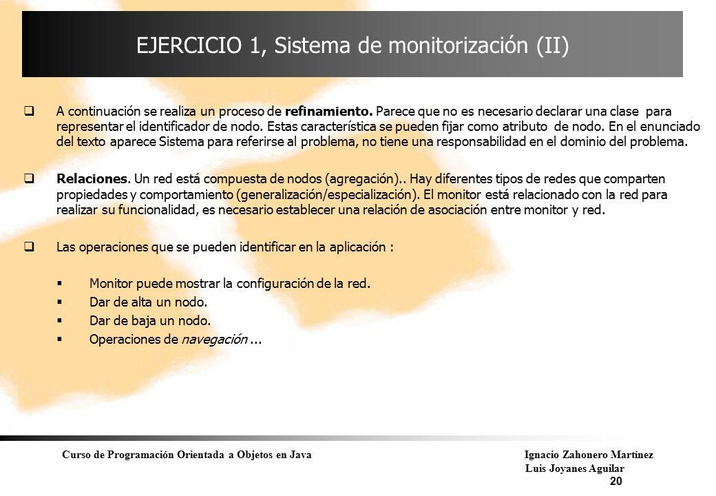 EJERCICIO 1, Sistema de monitorización (II)