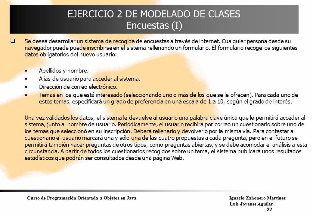 EJERCICIO 2 DE MODELADO DE CLASES