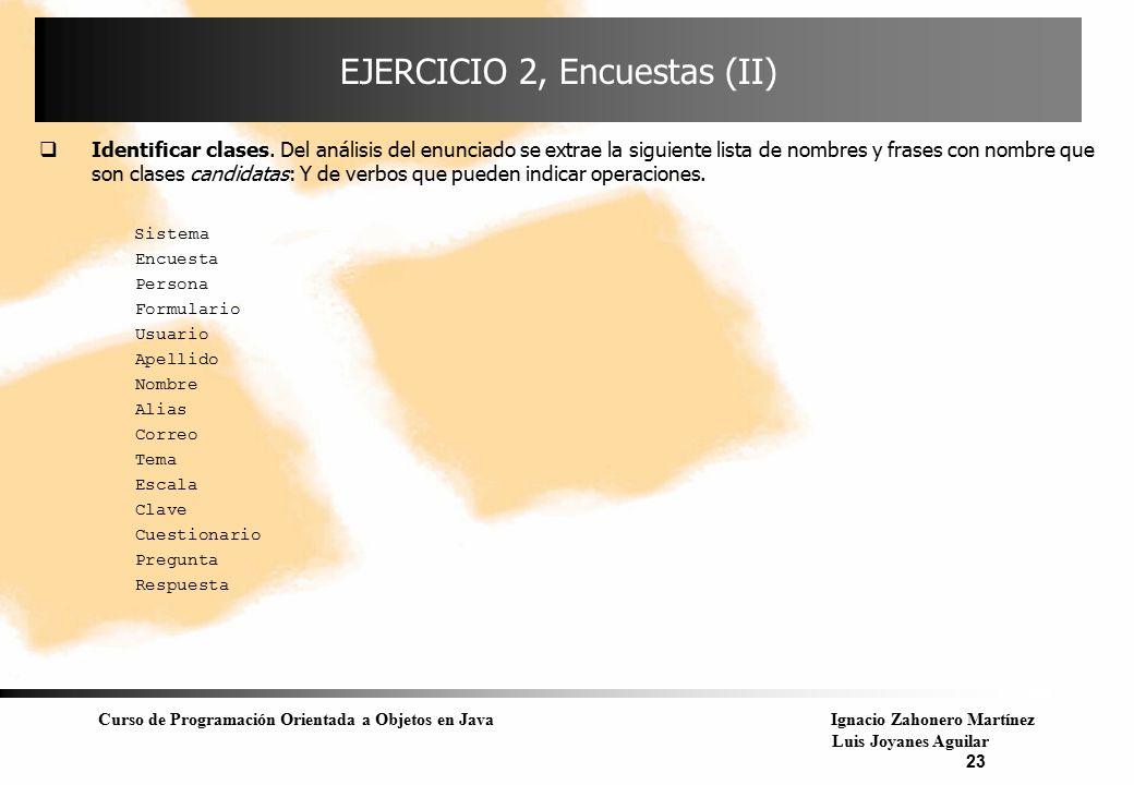 EJERCICIO 2, Encuestas (II)