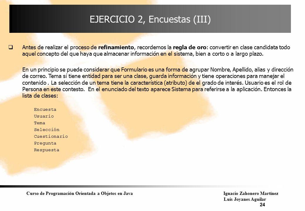 EJERCICIO 2, Encuestas (III)