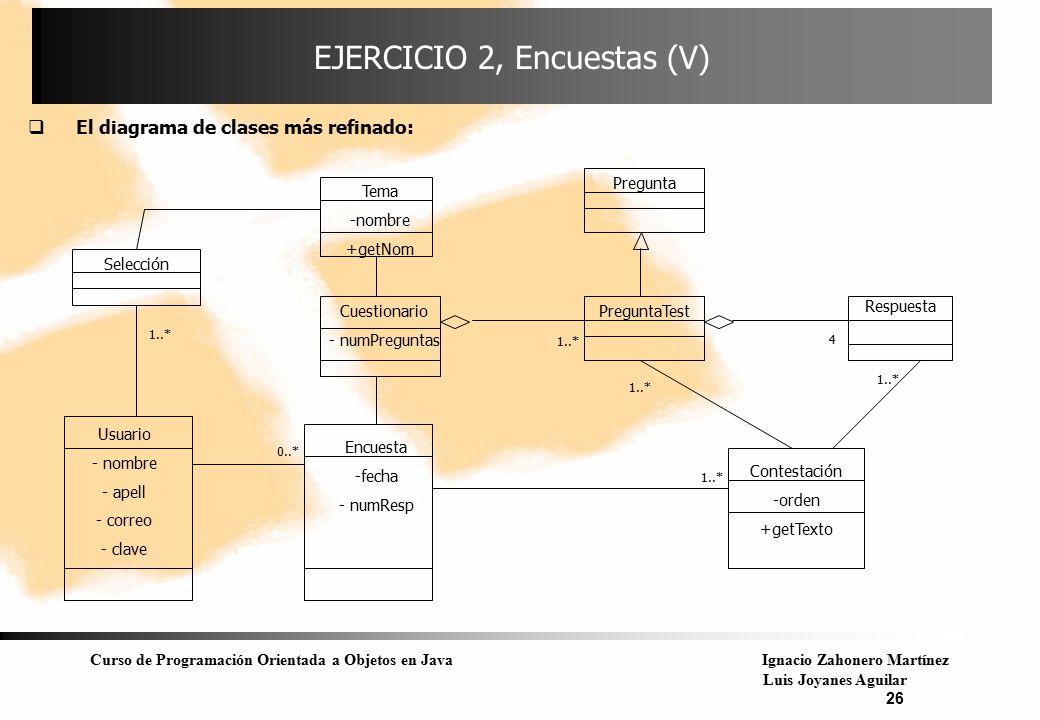EJERCICIO 2, Encuestas (V)