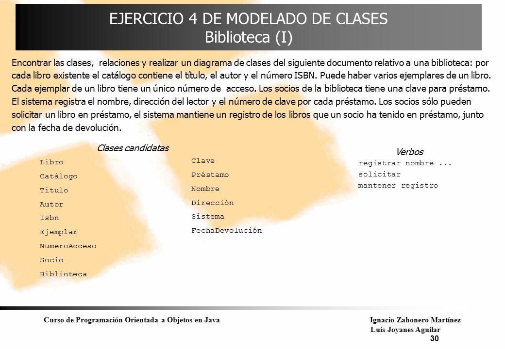 EJERCICIO 4 DE MODELADO DE CLASES