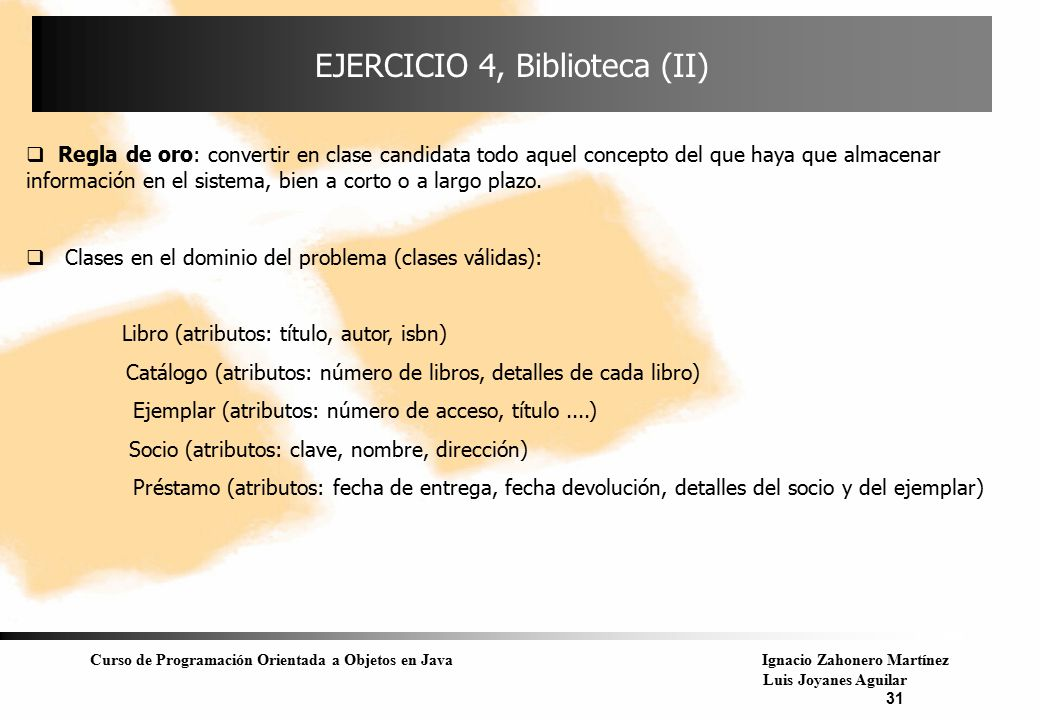 EJERCICIO 4, Biblioteca (II)