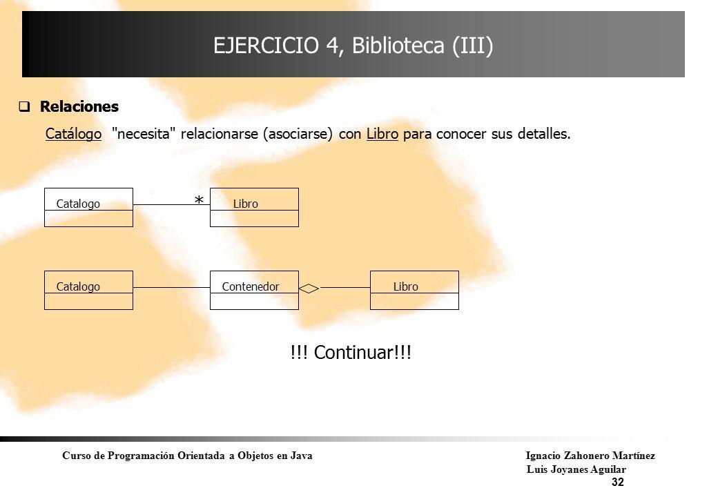 EJERCICIO 4, Biblioteca (III)