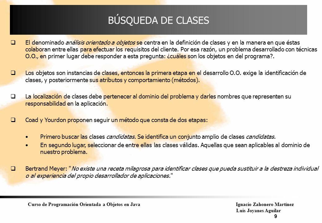 BÚSQUEDA DE CLASES