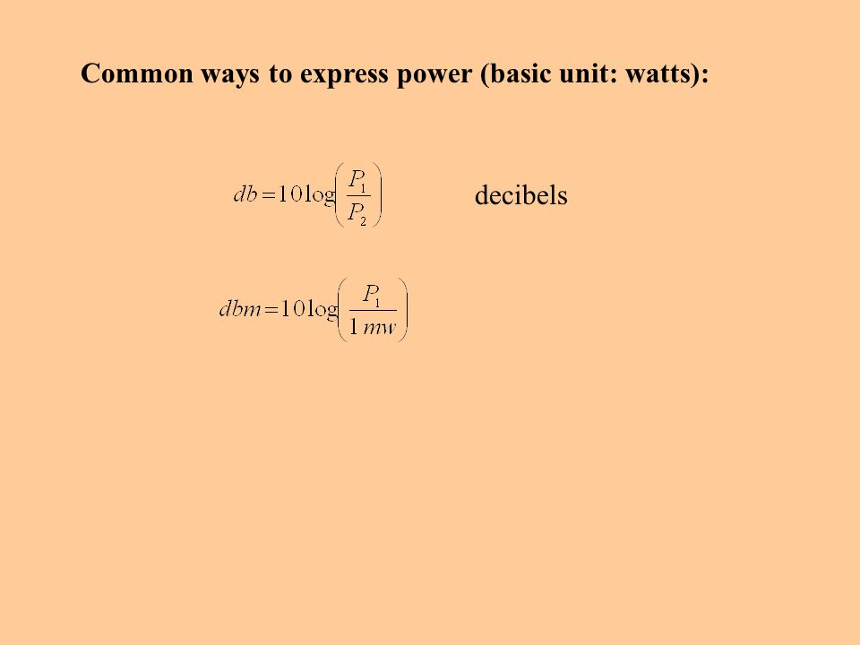 Common ways to express power (basic unit: watts):