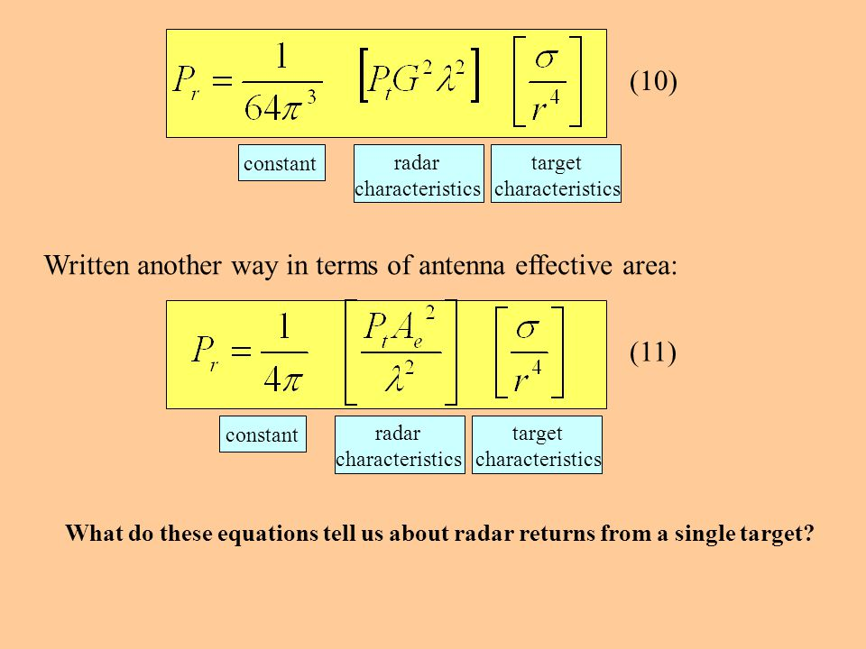Written another way in terms of antenna effective area: