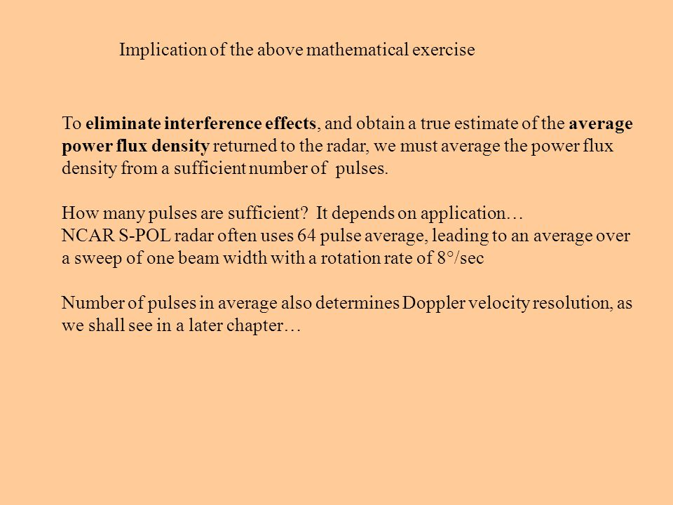 Implication of the above mathematical exercise