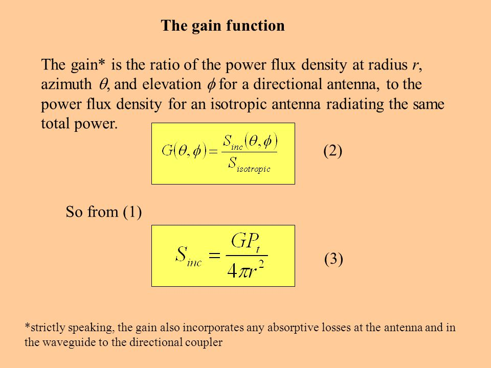 The gain function