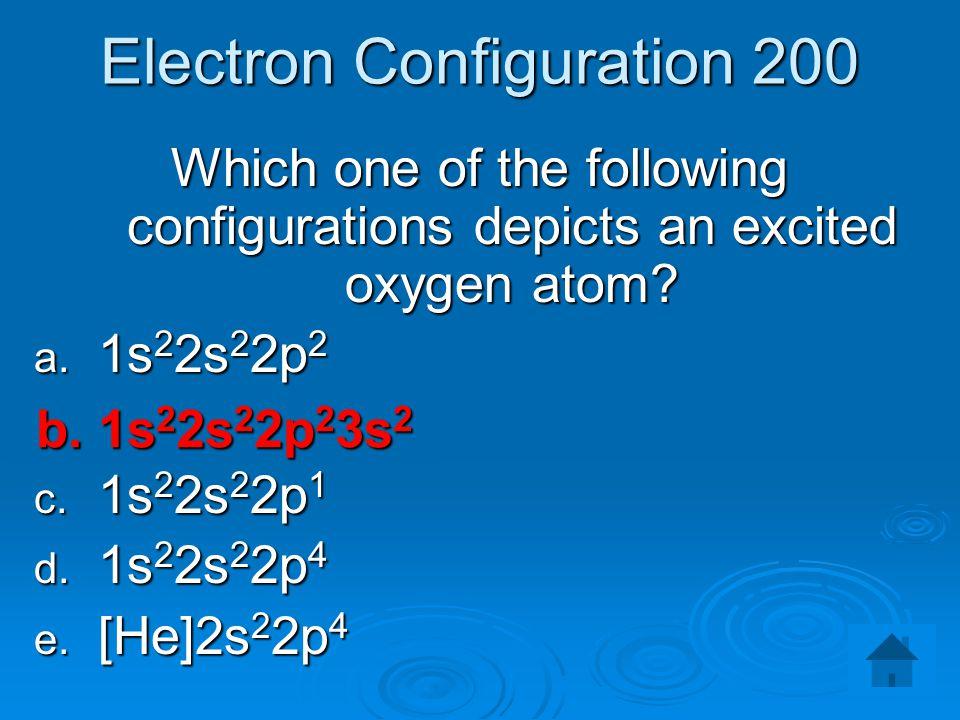 Electron Configuration 200