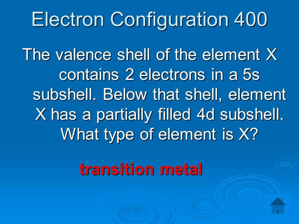 Electron Configuration 400
