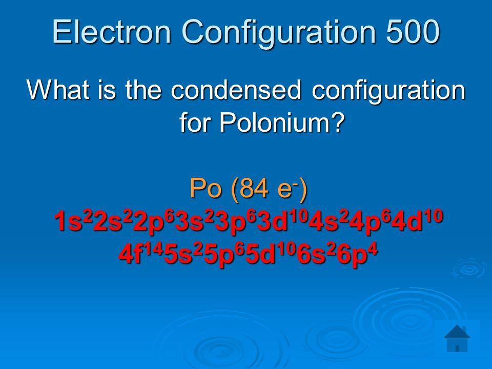 Electron Configuration 500