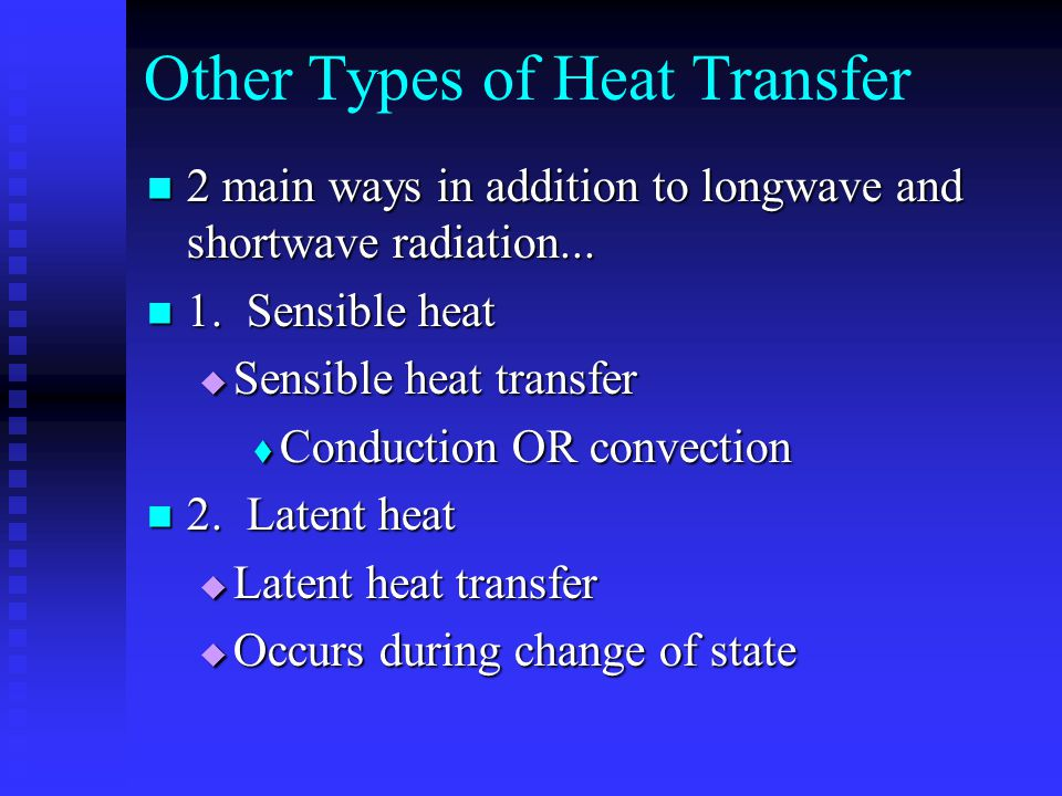 Other Types of Heat Transfer