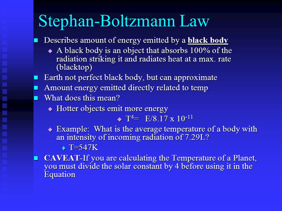 Stephan-Boltzmann Law