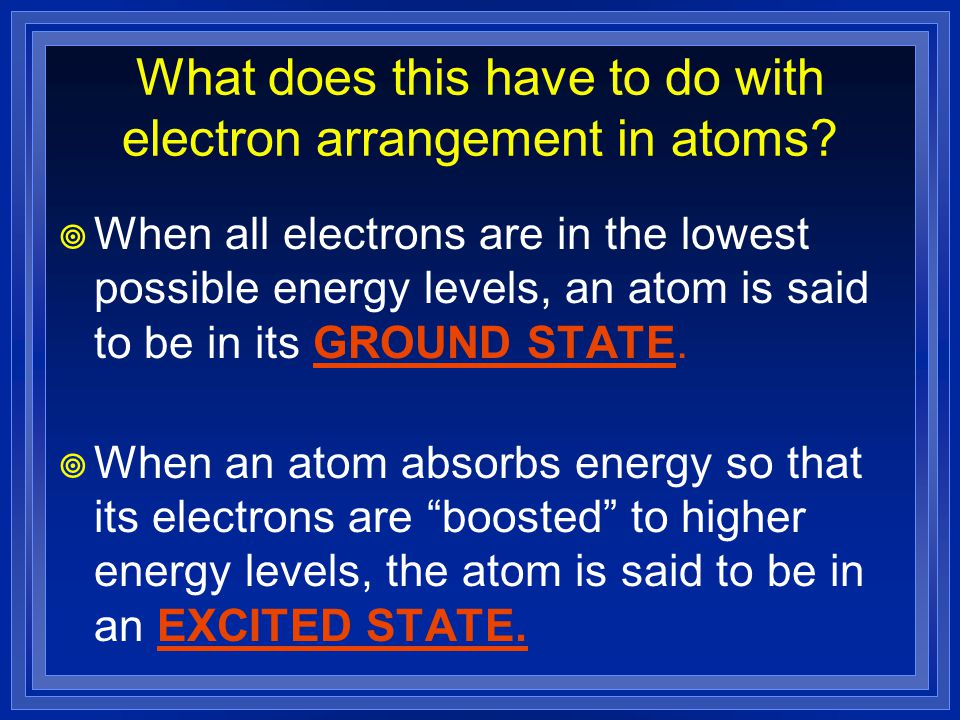 What does this have to do with electron arrangement in atoms