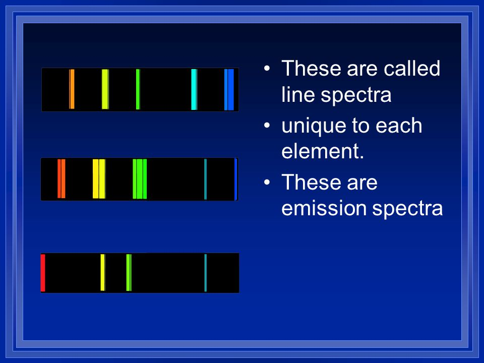 These are called line spectra