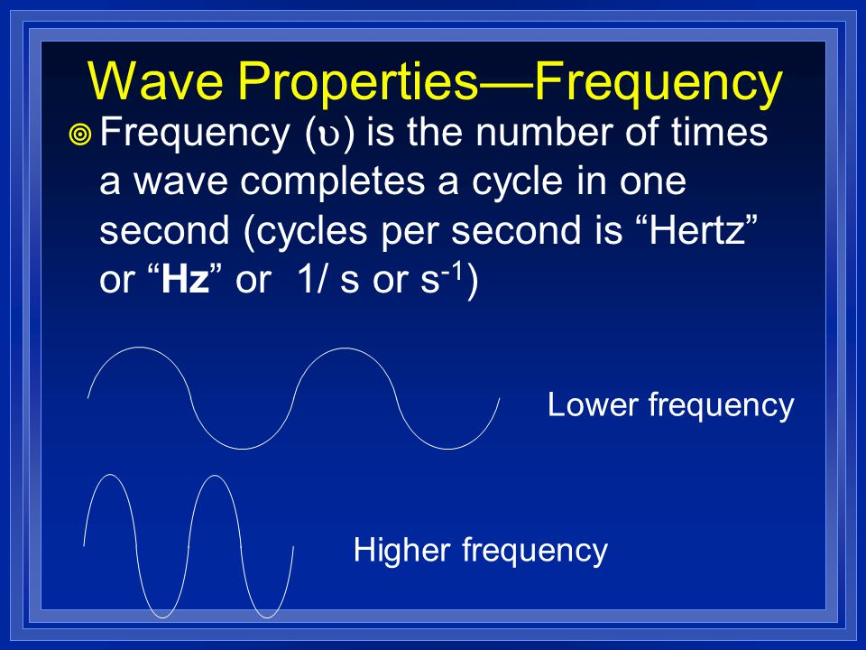 Wave Properties—Frequency