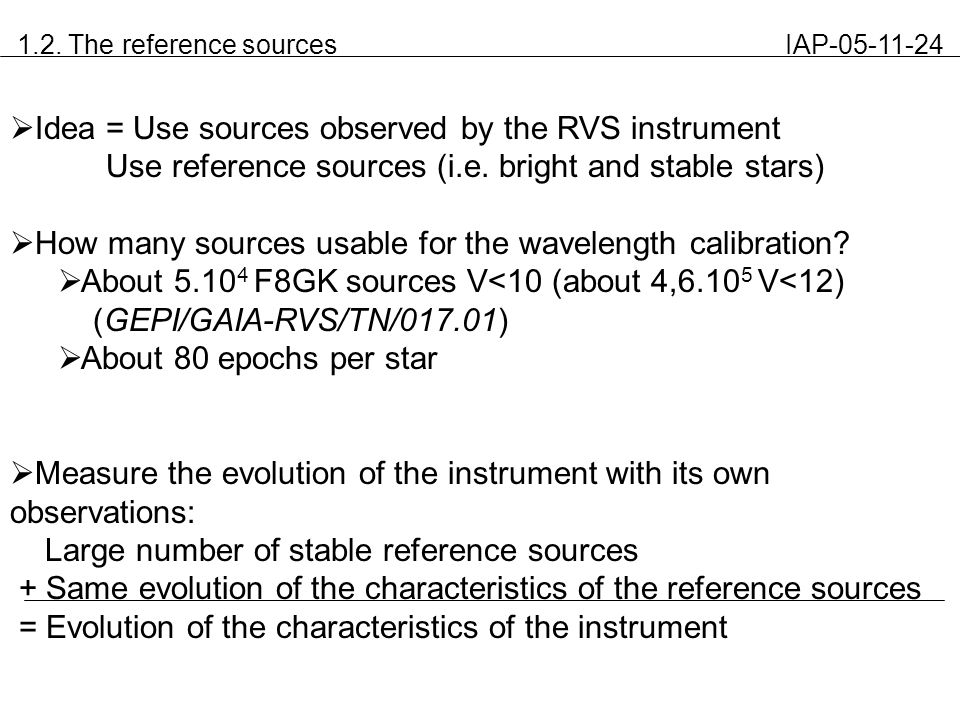 1.2. The reference sources IAP-05-11-24