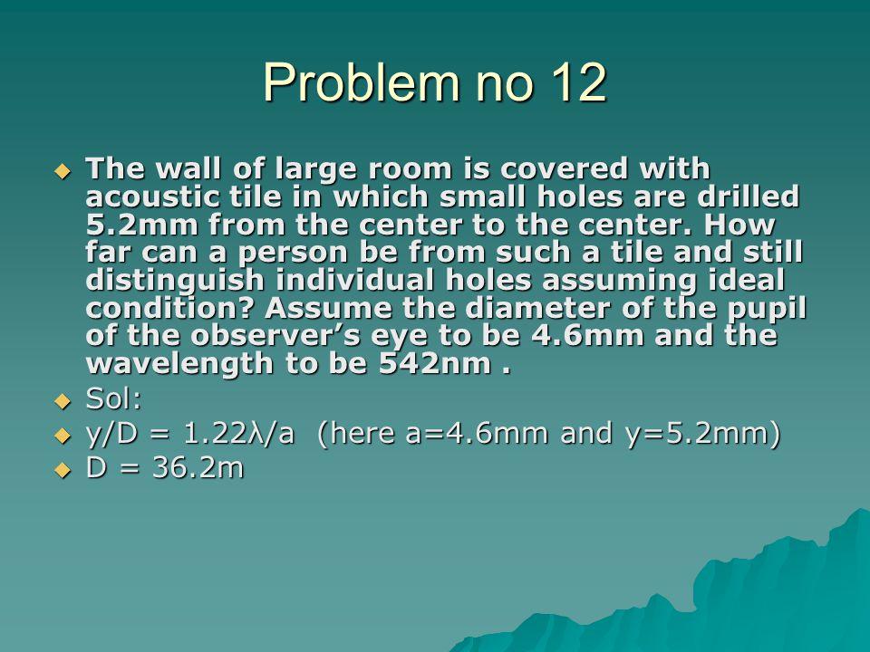 Problem no 12