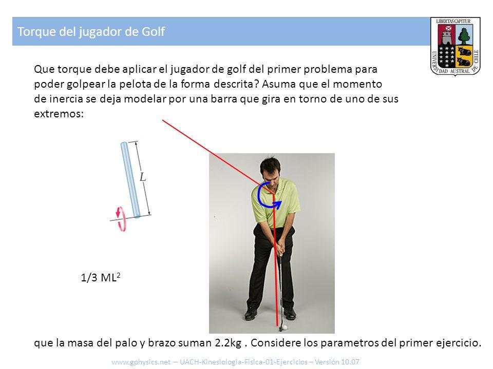 Torque del jugador de Golf